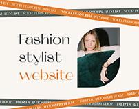 Fashion stylist website   UI/UX design