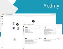 Acdmy: UI/UX Case Study Virtual Classroom Web App