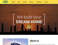 Construction Company Website (Everest Constructions)