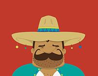 Mexican hombre flat design