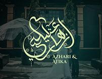 Azhari & Atika wedding logo