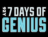 92Y: 7 Days of Genius