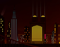 Batman TAS; Gotham concept.