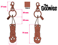 """The Goonies"" keyrings"