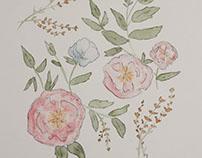 11x17 Floral Watercolor
