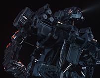 sci-fi robot 3d modeling