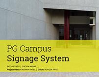 Signage System Design for NID PG campus.