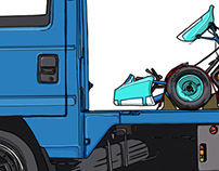 AutoX Kei Truck Kart Carrier Rig