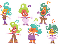 Oompa Loompa Character Designs