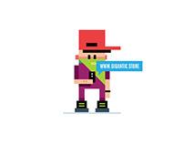 Digital Illustration: Flat Design Character