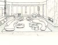 Line Drawing for Meg Sharpe Interiors (Hamptons)