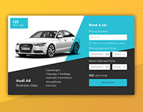 Car booking widget | WDI UI-challenge