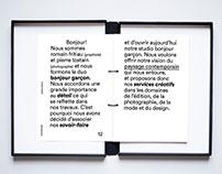 brand book - bonjour garçon studio