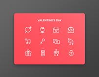 UI Challenge 03 - Valentine's Day icons