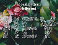 Floral Pattern Lettering