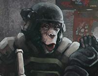Monkey's Breaching