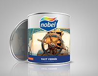 Label designs for Nobel Paint Company