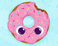 DONUTS MAKE MY BELLY HAPPY