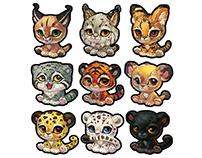 野生CAT集】大猫 狞猫猞猁 薮猫兔狲 虎狮豹