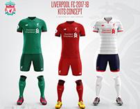 Liverpool FC 2017-18 Kits Concept.