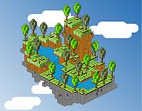 Floating Island Pixelart