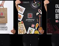 Website, Packaging e Cartazes - Restaurante Yabany