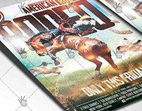 American Rodeo Flyer - PSD Template