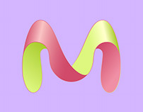 M logotype concept.
