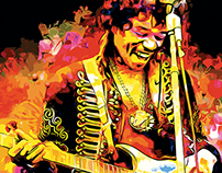 """Are you experienced?"" Jimi Hendrix Wallpaper"