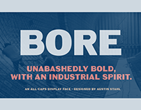 Bore - Free Bold Industrial Font