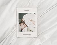 Birth Announcement Card Template - Modern Minimalist