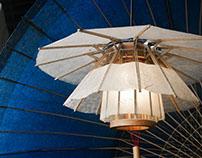 Paper umbrella lamp