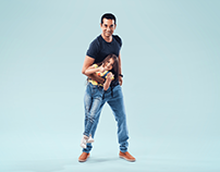 Amr saad and his daughter