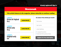 Newsweek - Paywall design proposal