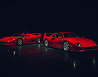 Automotive Icons - Ferrari F40 & F50