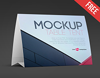 Free Table Tent Mock-up in PSD