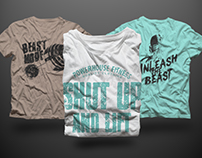 T-shirt Mock-up Isolated Male Version PSD