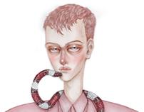 Snake Boy In Pink