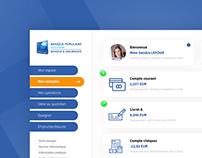 Interface client Banque Populaire