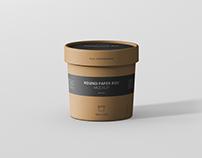 Round Paper Box Mockup - Small