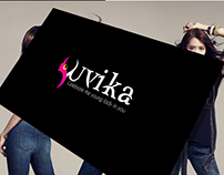 Yuvika fashion brand logo Design