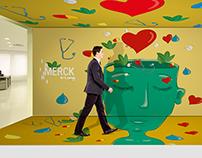 Merck Hallway Design