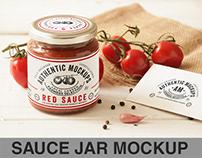 Sauce Jar Label Mockup
