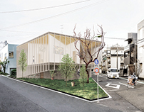 House with Two Gardens and a Studio / Tokyo 2014