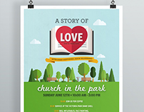 Church in the Park Poster