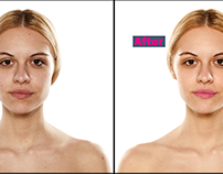 Face Retouching and make up