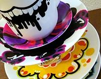 Graffiti Tea Cups
