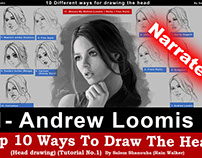 "Top 10 ways to draw the head [1- Andrew Loomis] ""Narrat"
