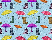 100 Days of Patterns Project: Rain
