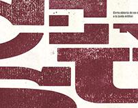 Censura — Póster Tipográfico